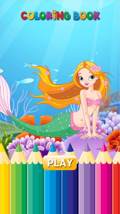 公主美人魚 - 著色書為我和孩子