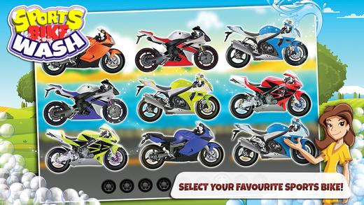 自行车运动洗 - 维修和清理的摩托车在这个沙龙温泉游戏的孩子