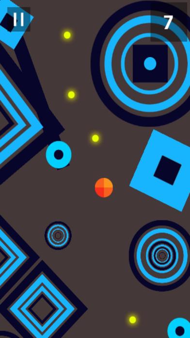 微小的橙色球形状逃生