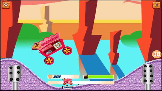 食品的卡车驾驶游戏