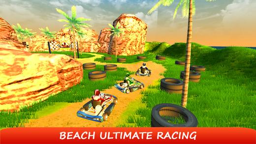 海滩卡丁车特技骑士和越野车赛车手