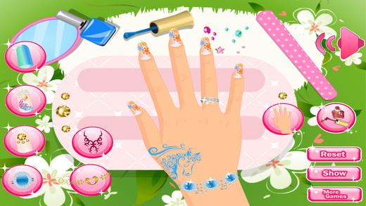 美丽的指甲沙龙 - 女孩游戏