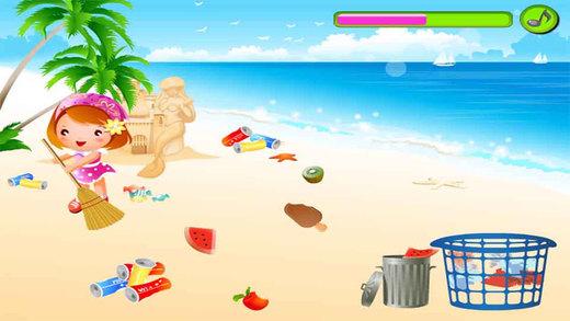 糖糖的海滩,儿童游戏,爸爸妈妈和宝宝的游戏-CN
