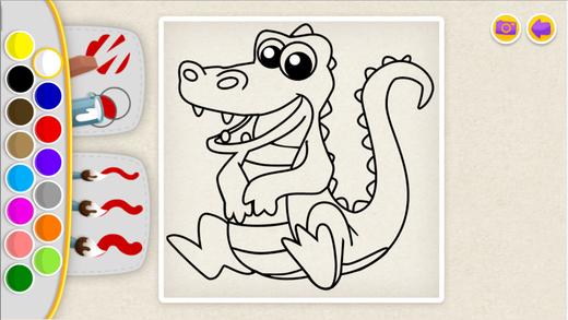 卡通奶牛着色涂鸦游戏:简洁版的填色应用