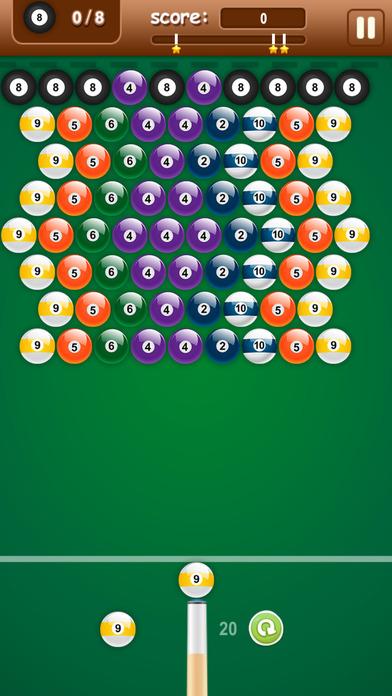 8个台球拍 - 射球