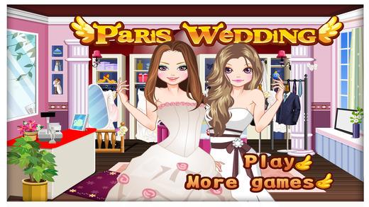 Paris Wedding - 扮靓和弥补游戏的孩子谁爱婚纱与时尚