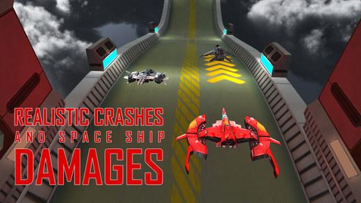 飞船赛车模拟器 - 在低重力和种族极端的轨道驱动器班车