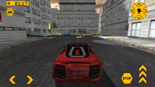 跑车赛跑停车游戏