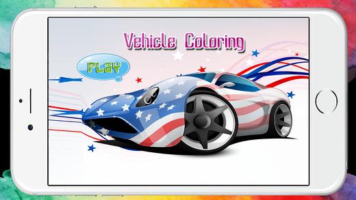 汽车着色书页游戏为幼儿园