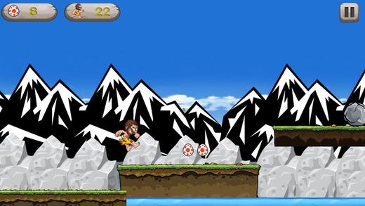 Caveman Hero - 跑和跳收集恐龍蛋