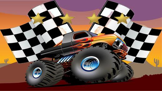4 X 4 的怪物  卡车山攀登赛车-免费赛车游戏