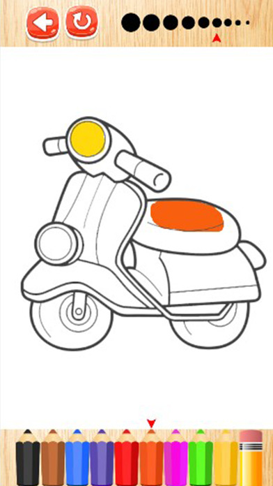 摩托车着色书为孩子