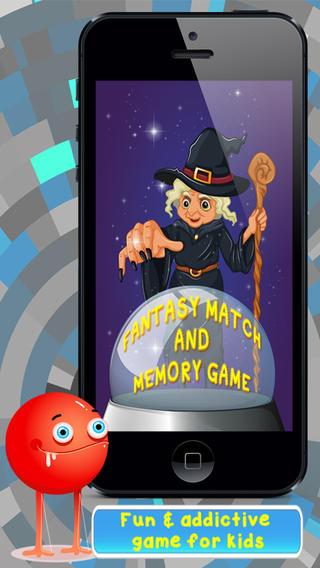 幻想''匹配和记忆游戏免费下载 - 提高孩子们的学习,注意力和大脑训练技能,重点是创造性的想象力。