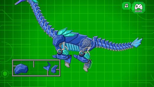 机器长颈龙 组装机器恐龙大战 蛇颈龙拼图