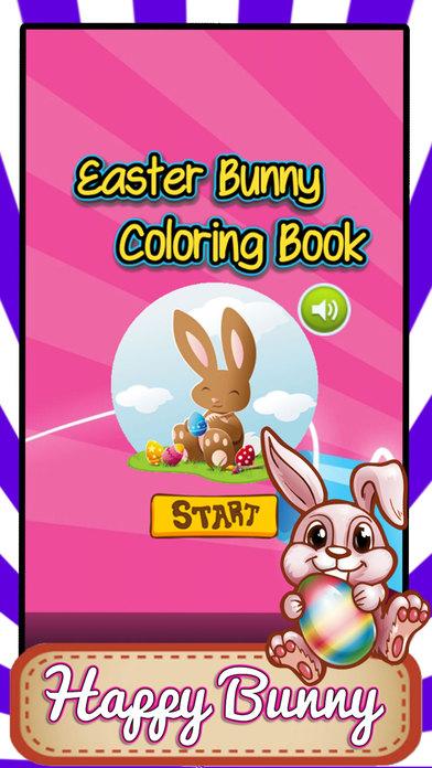 复活节兔子着色页复活节彩蛋记忆游戏