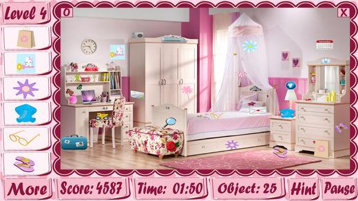隐藏物品游戏女孩房间