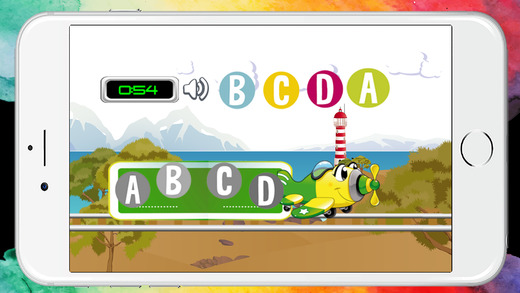 乘飛機學習ABC字母和數字123英語遊戲。