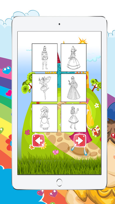 小公主游戏着色书女孩