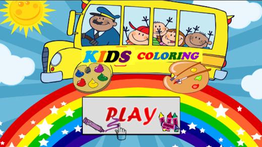 孩子上幼儿园着色书或游戏