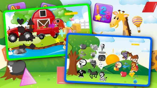 孩子形状ABC小孩学习比赛
