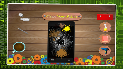 手机维修店 - 建立自己的智能手机和修复它在这个机械游戏的孩子