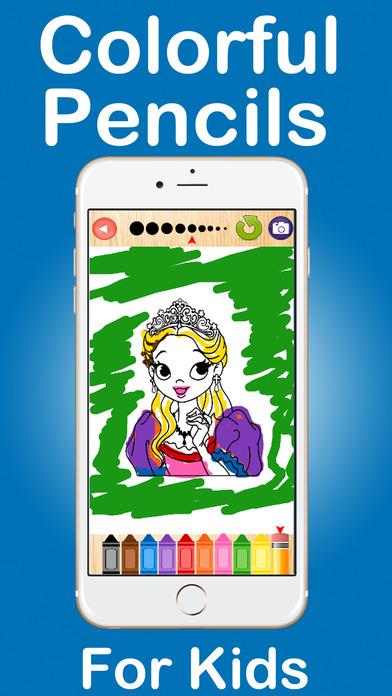 公主着色页游戏教育孩子为