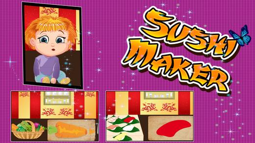 寿司制作 - 让食物在烹饪这个游戏的厨师为孩子们