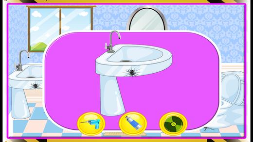 厕所修理和洗 - 孩子夏天和修复它的乐趣