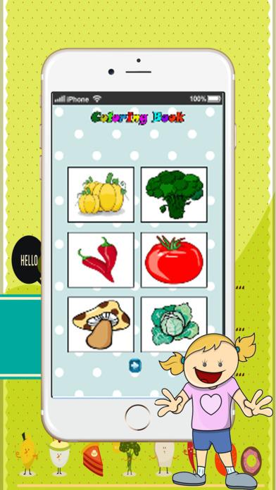 新鲜水果艺术片 : 学习绘画和绘图着色页面可打印为孩子们免费