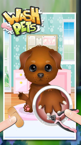 为宠物洗澡 - 儿童家庭游戏