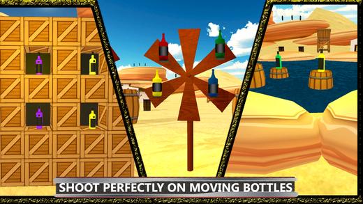 瓶射击目标练习和乐趣训练模拟
