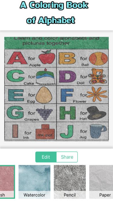 字母着色书为孩子