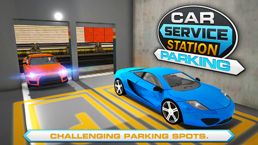 汽车服务站停车场 - 驱动普拉多吉普车