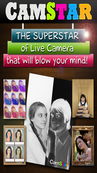 CamStar - 免费娱乐现场的Photo Booth特效,通过摄像头和视频 - Free Fun Live Photo Booth FX via Camera and Video for IG, FB, PS, Tumblr