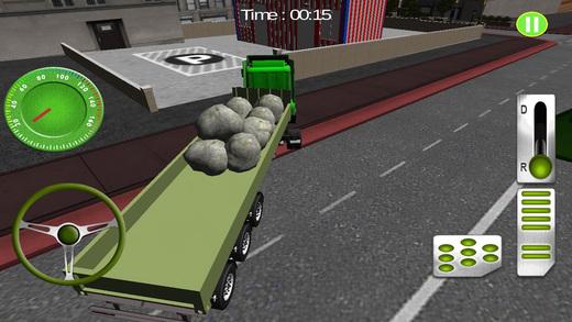 货物转运 - 路上的卡车货物交付及停车