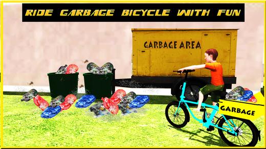 孩子骑自行车和骑自行车的模拟器3d