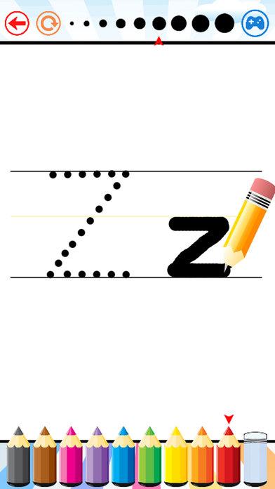 寫 字母 ABC 和 數字 對於 學齡前兒童