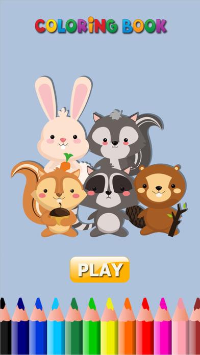 可愛的松鼠&兔子 - 遊戲著色書為我