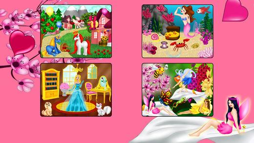 公主拼图 - 有趣的免费教育形状配对游戏的女孩,幼儿和学龄前
