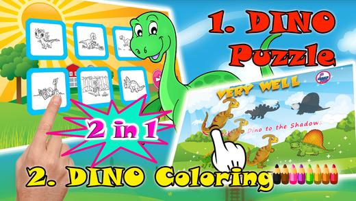 宝宝拼图 恐龙游戏 和 著色遊戲