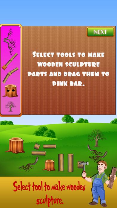 树雕塑展 - 木材切割游戏