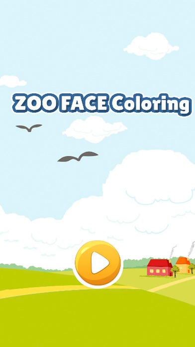 动物园动物脸的图画书为孩子们的游戏