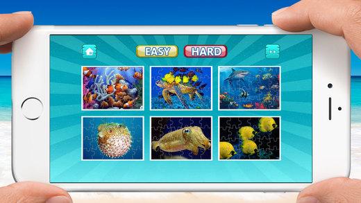 魚 拼圖 樂趣, 海 世界 難題 對於 孩子們