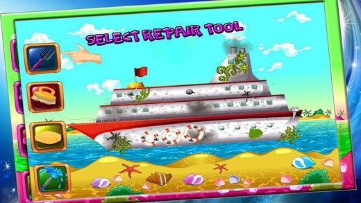 游轮维修 - 清洁和修复疯狂的海盗船冒险
