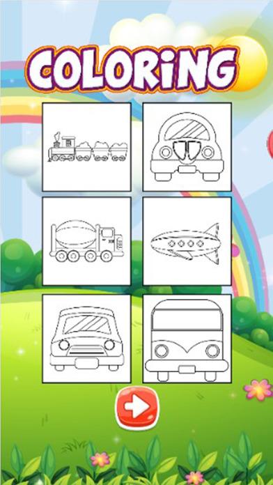 可爱的汽车着色书儿童游戏