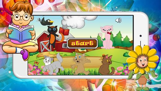 可爱的猫教练匹配儿童学龄前孩子:男孩和女孩的免费教育训练和比赛学习游戏