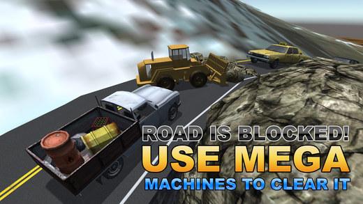滑坡救援起重机 - 驾驶大货车和吊车在这个模拟器游戏