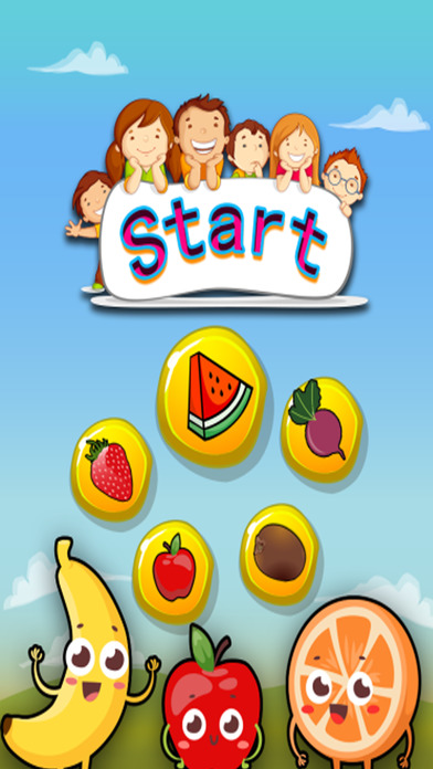 水果学习英语:儿童的教育游戏