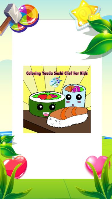 著色遊戲友达寿司厨师为孩子