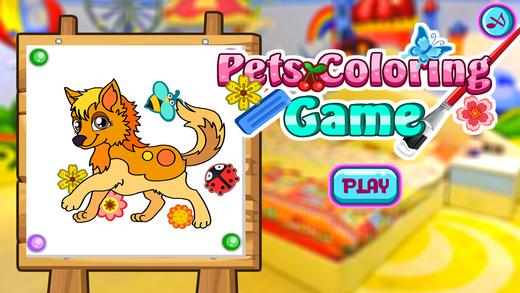 儿童填色-儿童画画启蒙 认动物 帮助动物们装扮